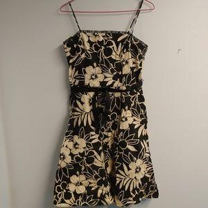 City Triangles Black & White Floral Mini Dress